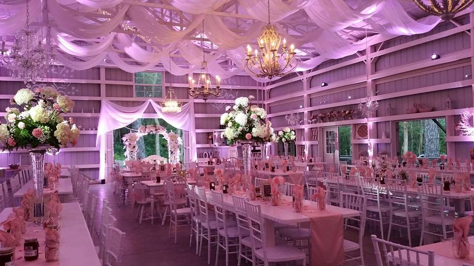 #MichaelAnthonyProductions#BlushPinkLighting#SaxonManor#ShabbyChicBarn