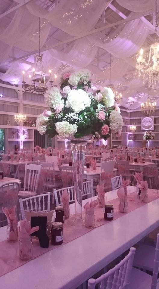 #MichaelAnthonyProductions#BlushPinkLighting#SaxonManor#ShabbyChicBarn2